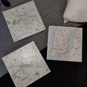IKEA MAP WALL ART SET